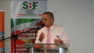 Directeur Suriname Business Center, Dhr. Gilbert van Dijk